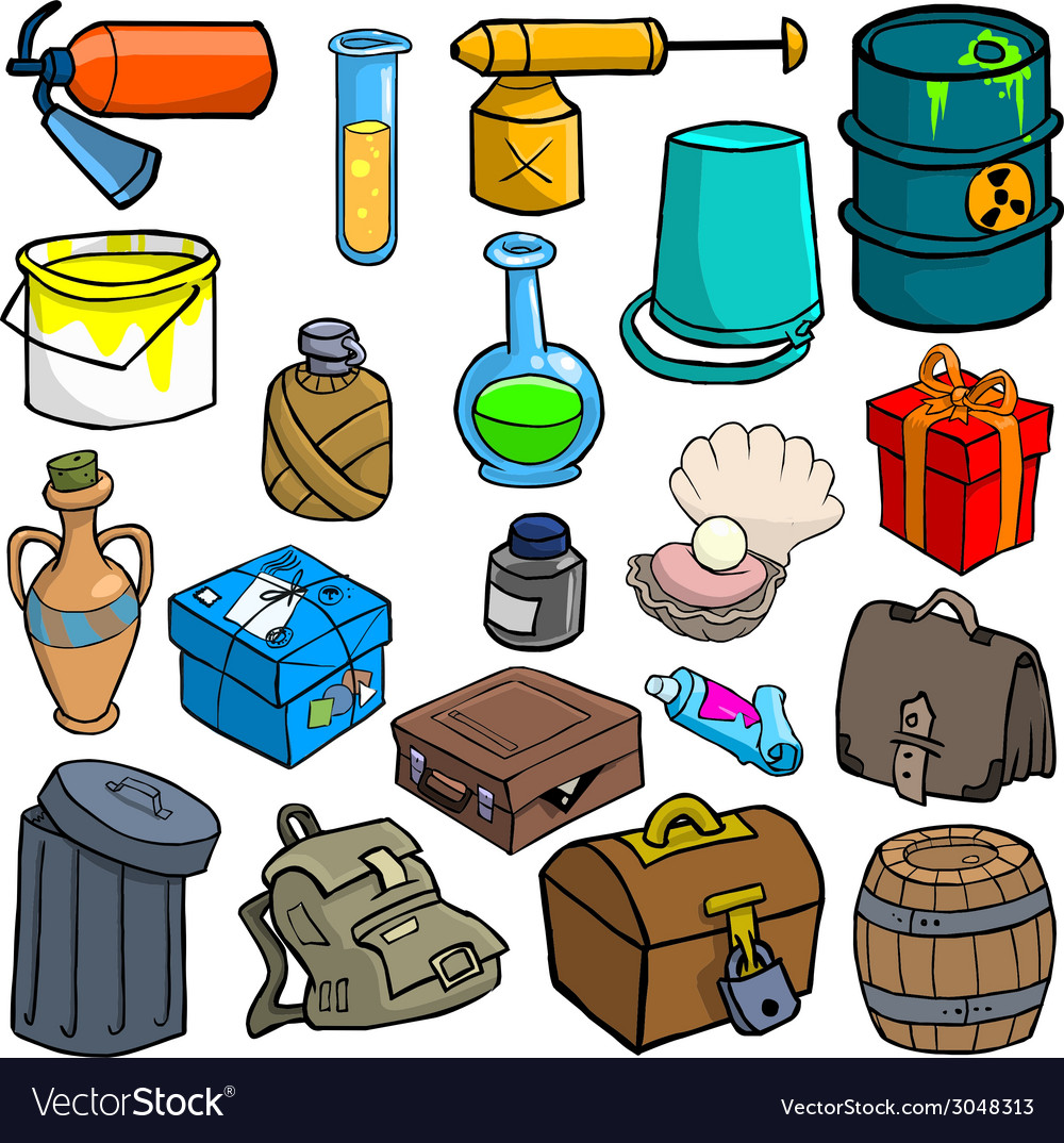 Cartoonish objects vol 3 vector | Price: 1 Credit (USD $1)