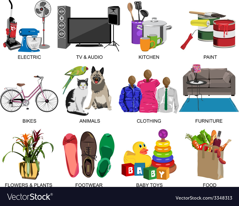 Colorful icons set for department store vector   Price: 3 Credit (USD $3)