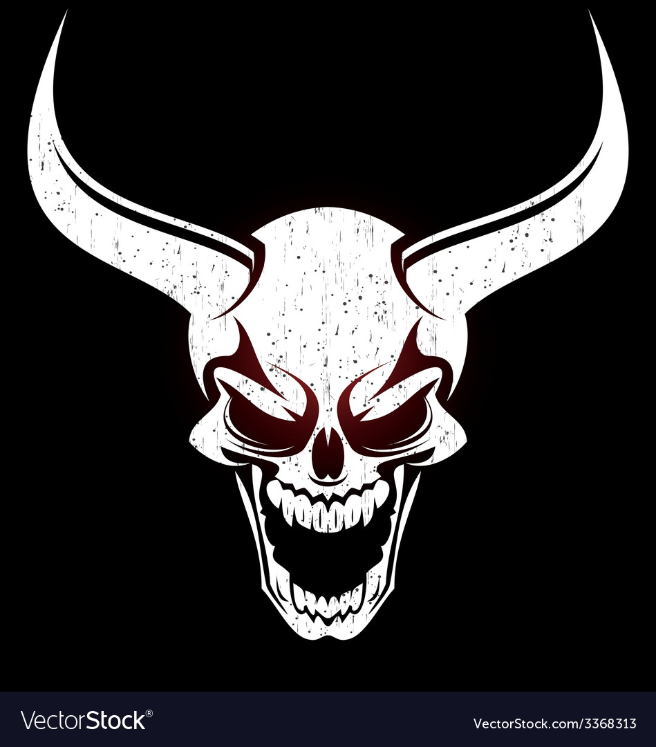 Demons head vector | Price: 1 Credit (USD $1)