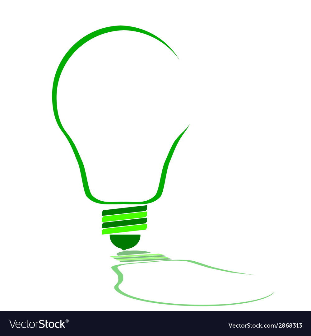 Eco bulb in green color vector | Price: 1 Credit (USD $1)