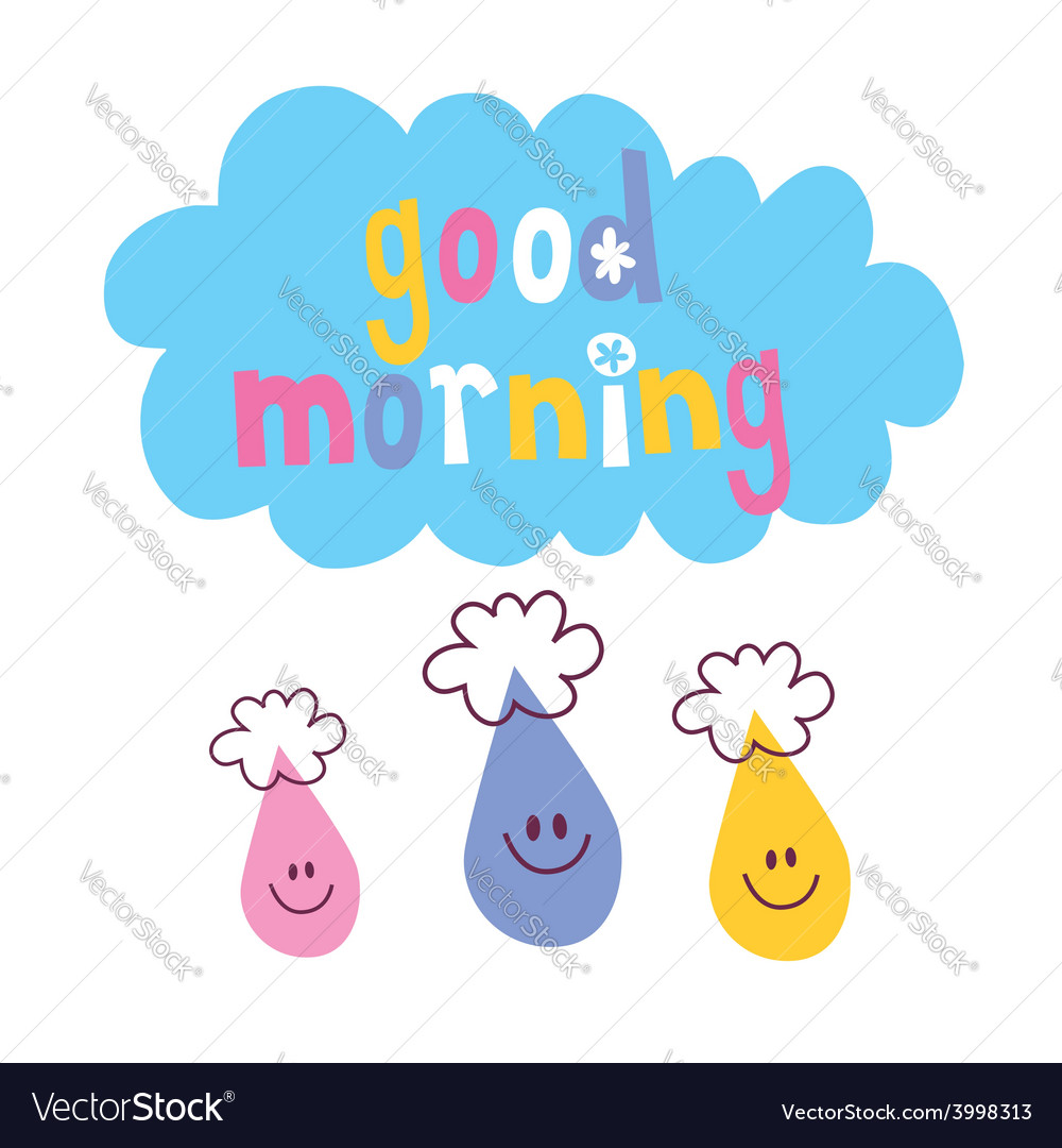 Good morning vector | Price: 1 Credit (USD $1)