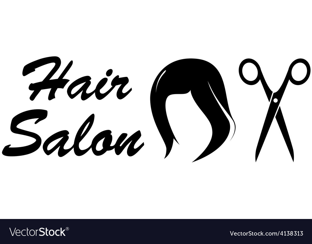 Hair salon icon on white backdrop vector | Price: 1 Credit (USD $1)