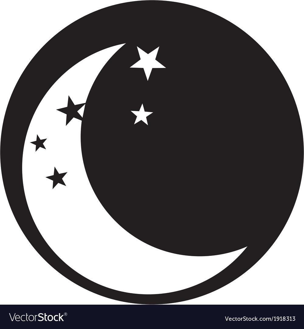 Moon icon vector | Price: 1 Credit (USD $1)