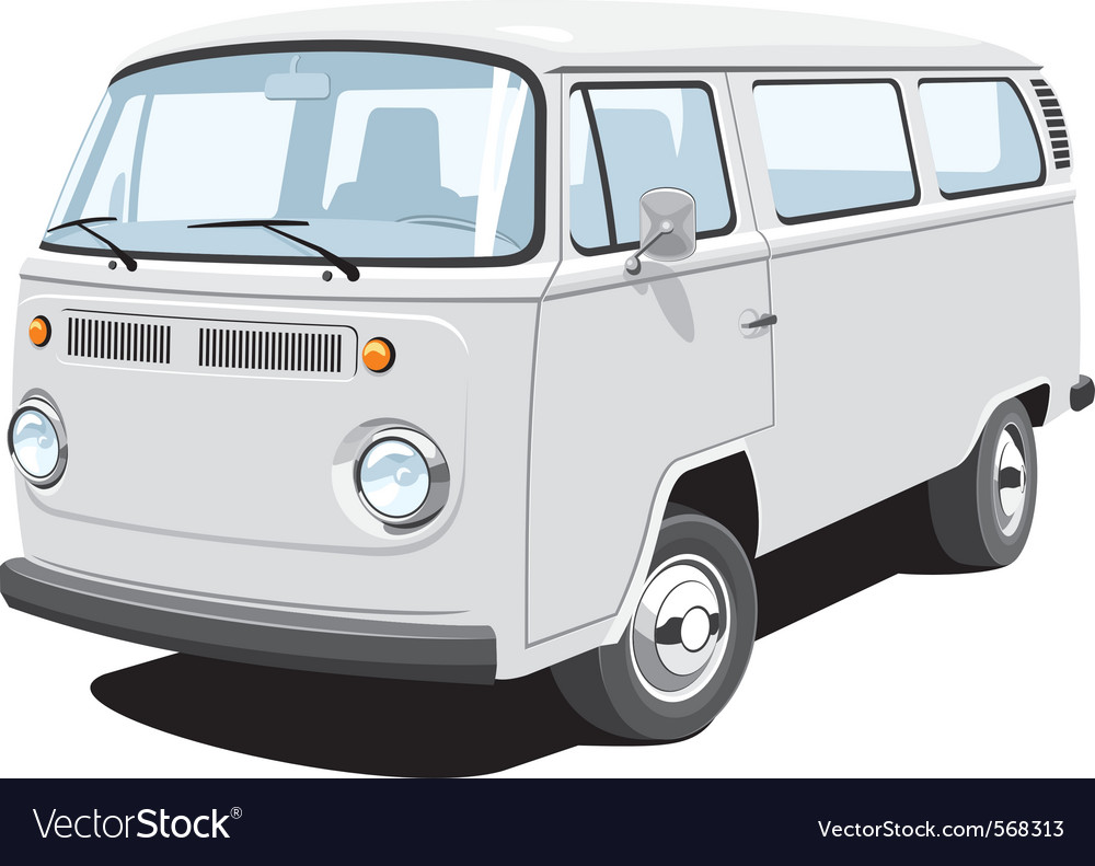 Passenger and cargo van vector | Price: 3 Credit (USD $3)