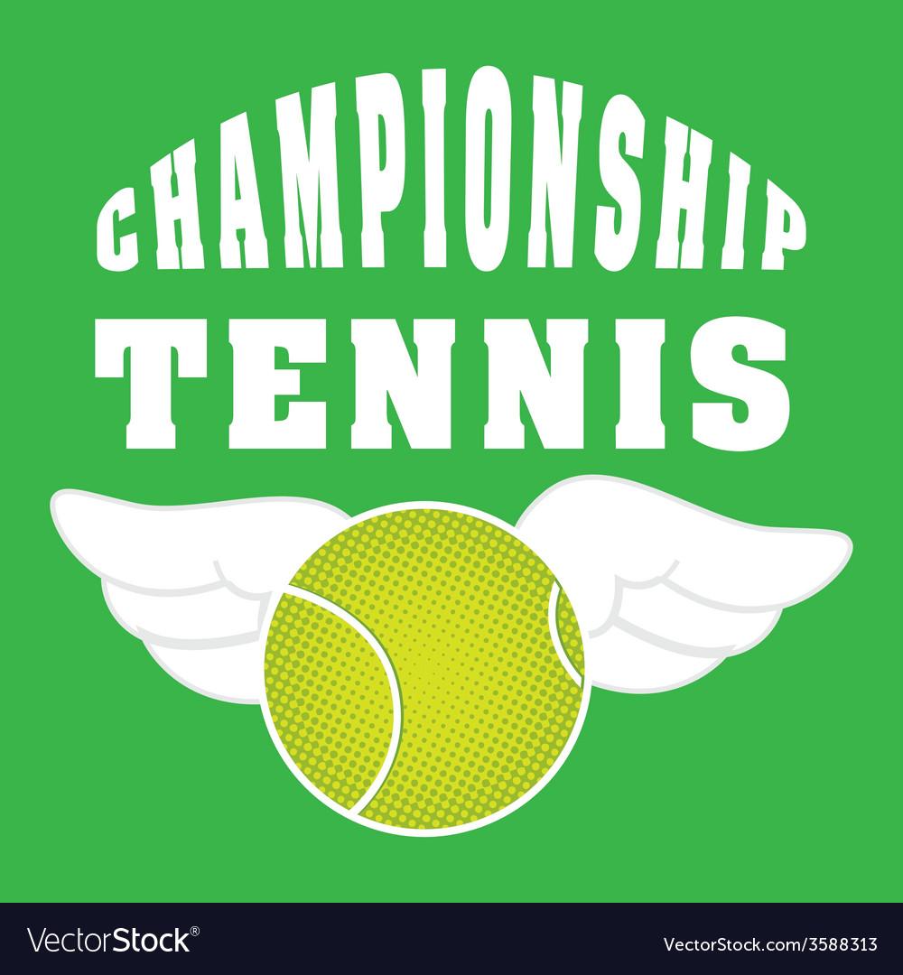 Tennis sport vector | Price: 1 Credit (USD $1)