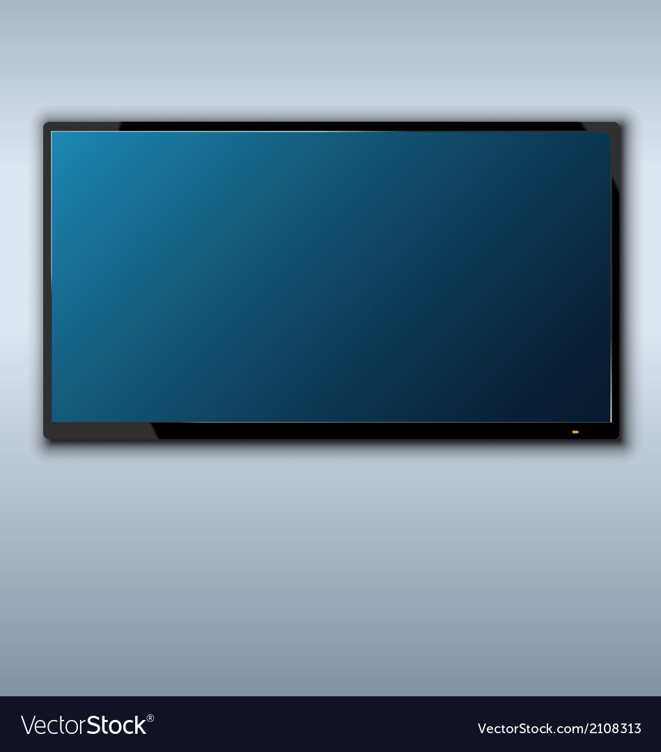 Tft tv hanging on the wall background vector | Price: 1 Credit (USD $1)