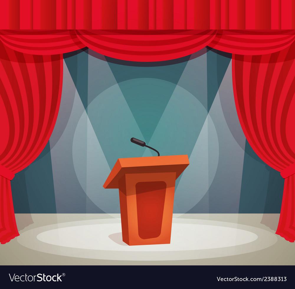 Tribune on stage vector