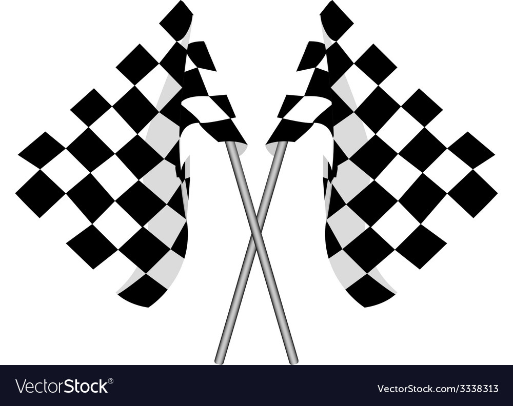 Two finish flag vector | Price: 1 Credit (USD $1)