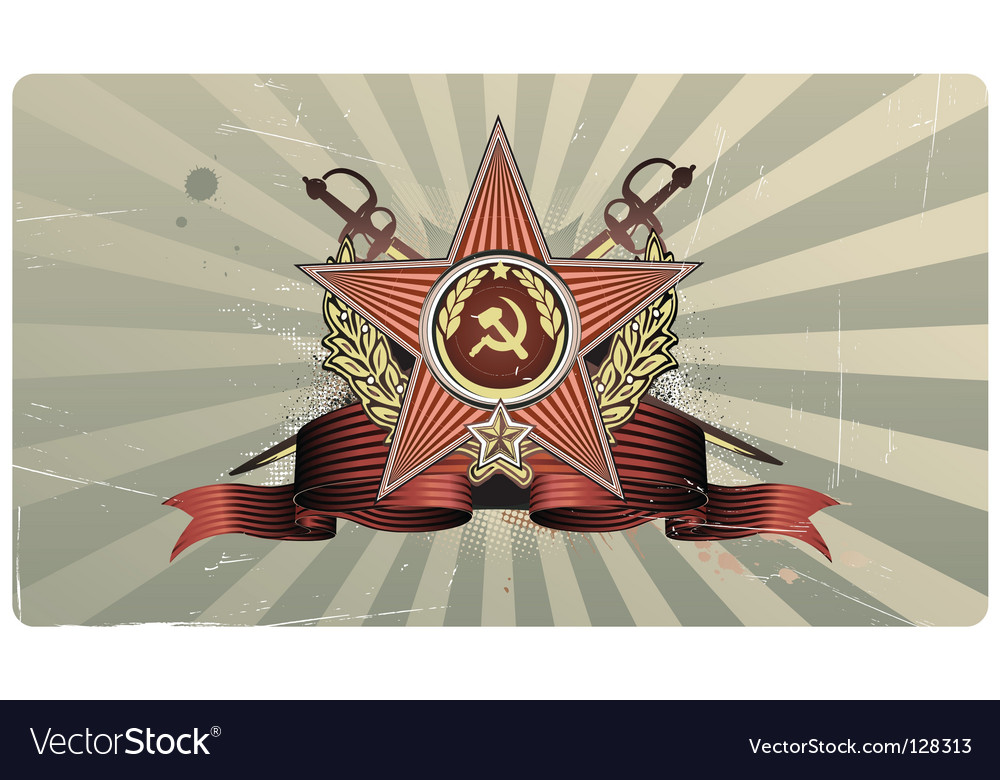 Vintage star shape vector