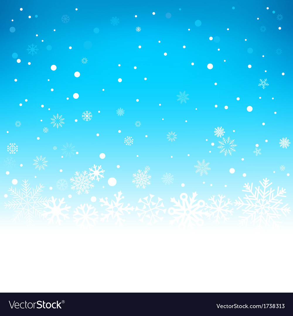 Winter blue background vector | Price: 1 Credit (USD $1)