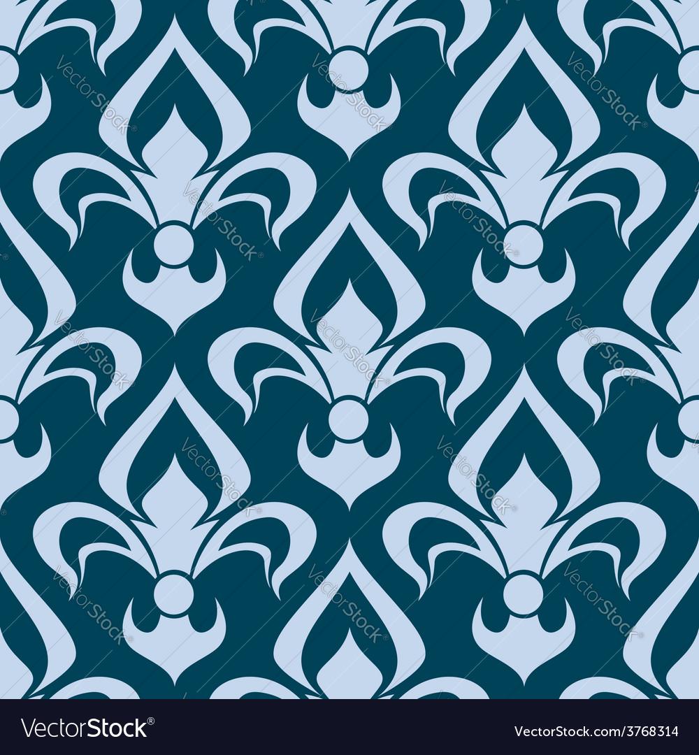 Arabesque seamless pattern with a fleur de lys vector