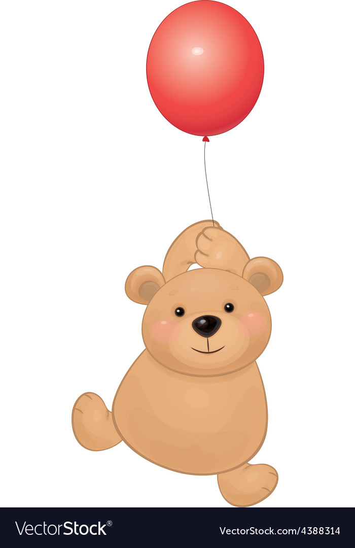 Bear balloon vector