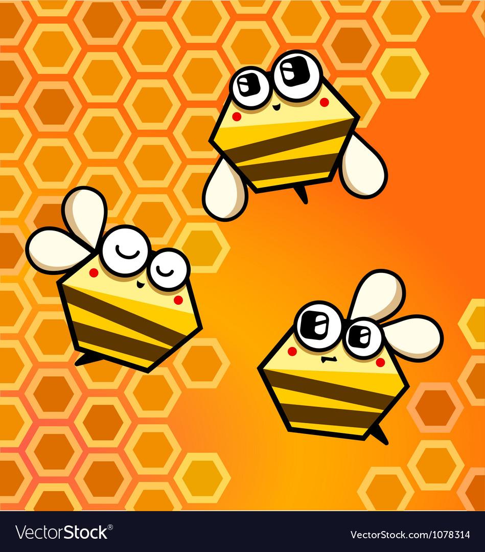 Bee happy vector | Price: 1 Credit (USD $1)