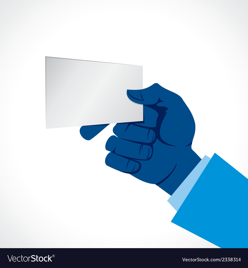 Blank card in hand vector | Price: 1 Credit (USD $1)