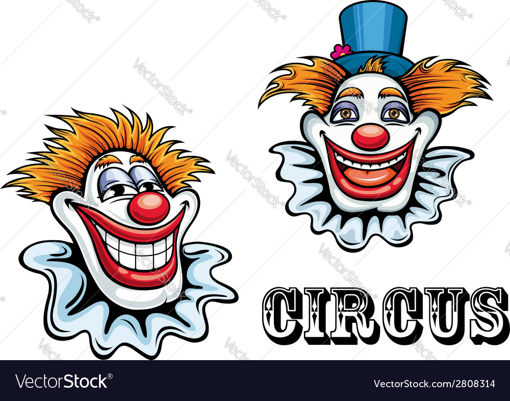 Circus cartoon clowns characters vector | Price: 1 Credit (USD $1)