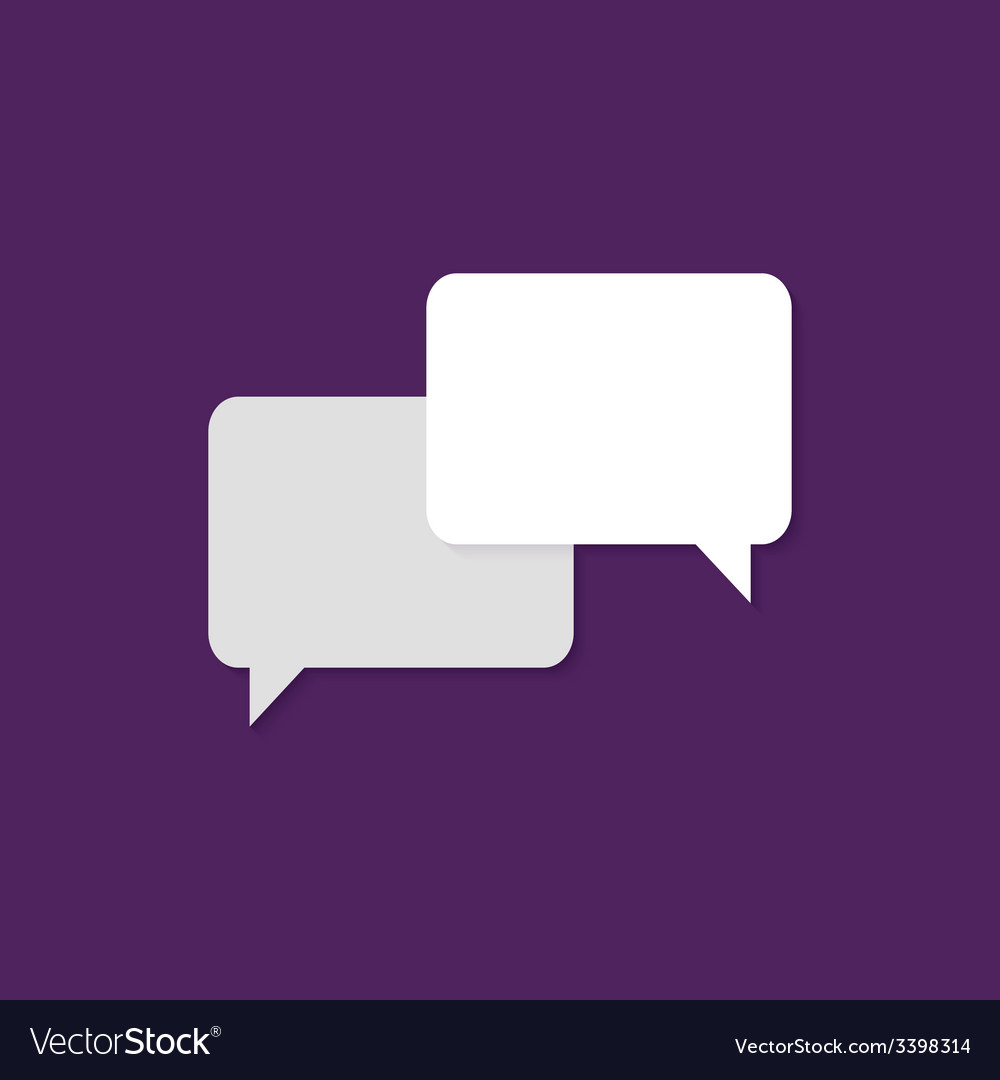 Communication flat icon over purple vector | Price: 1 Credit (USD $1)