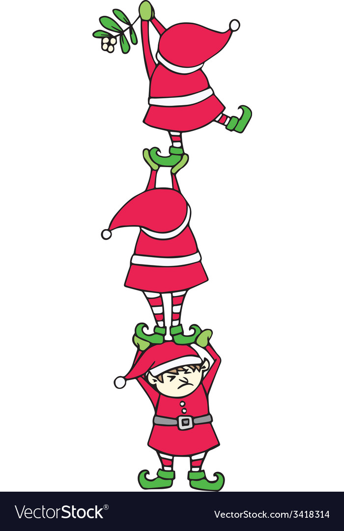 Elves decorating vector | Price: 1 Credit (USD $1)