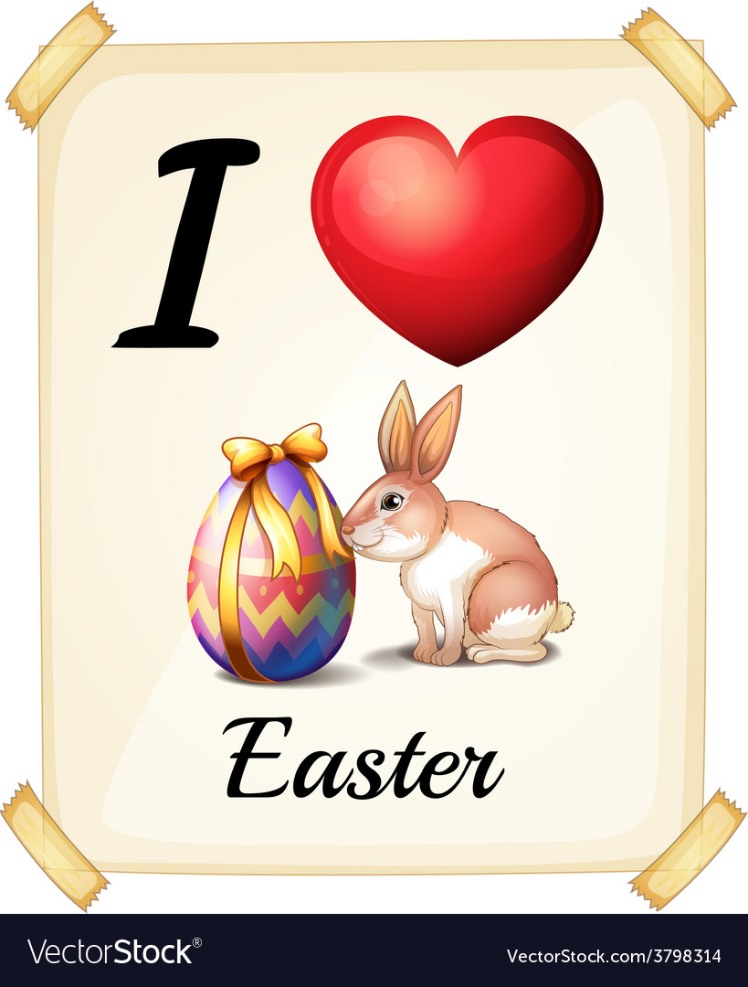I love easter vector | Price: 1 Credit (USD $1)