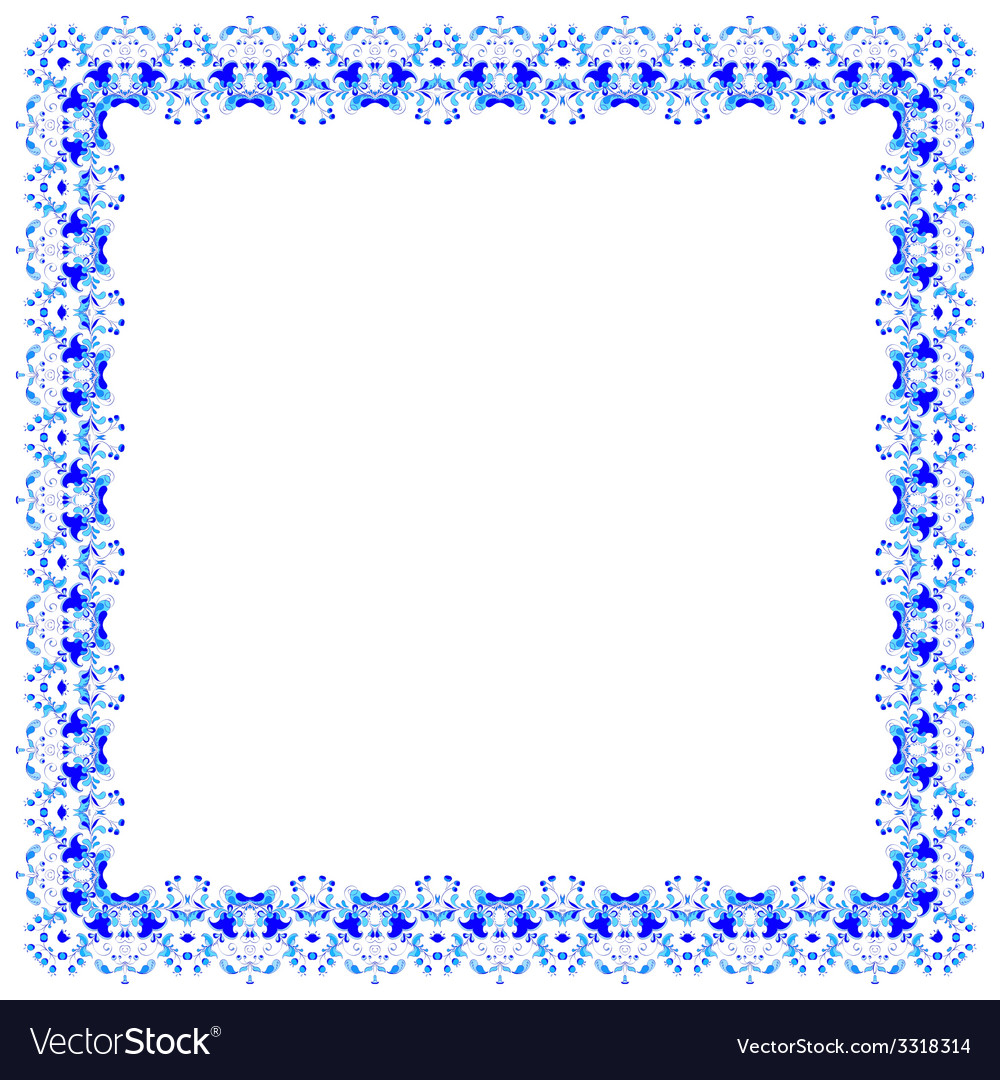 Lacy pattern of blue flowers vector   Price: 1 Credit (USD $1)