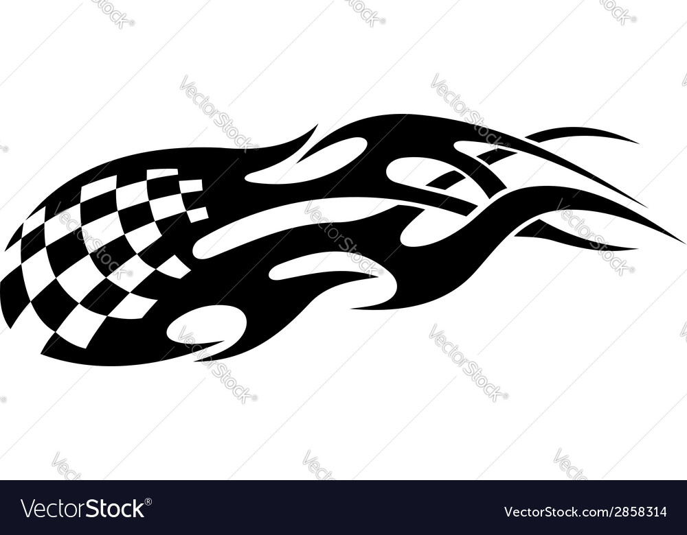 Stylized tribal racing tattoo vector | Price: 1 Credit (USD $1)