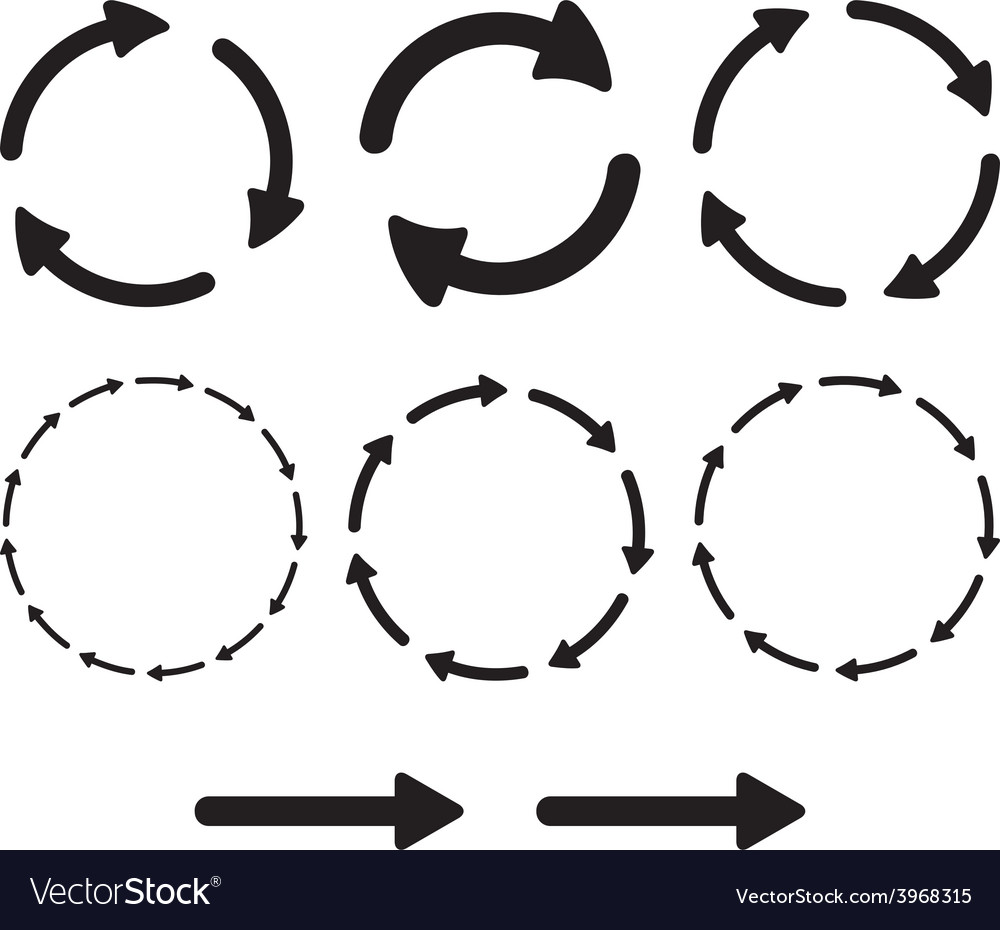 Arrow pictogram refresh reload rotation loop sign vector