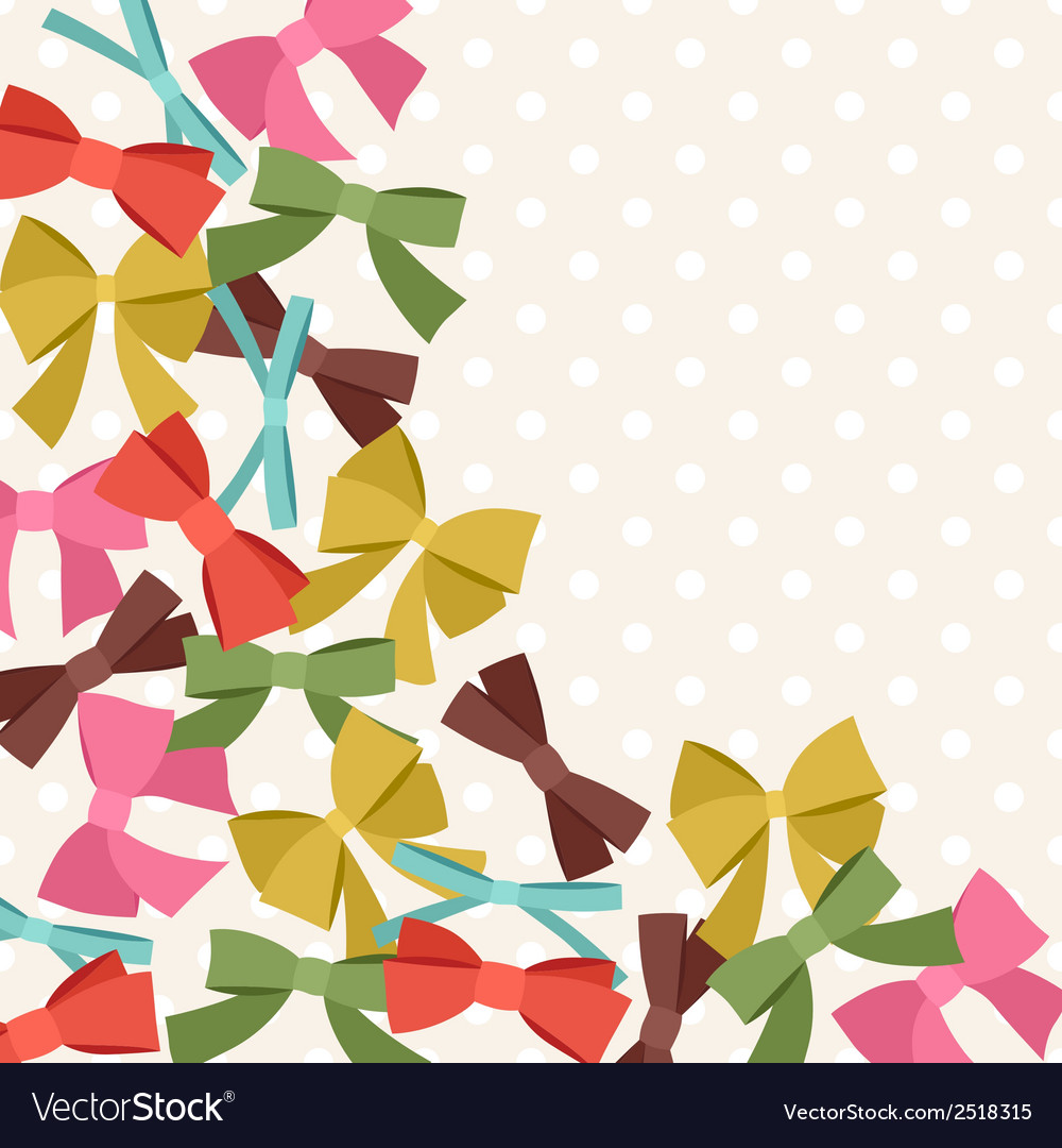 Background with abstract various bows and ribbons vector | Price: 1 Credit (USD $1)