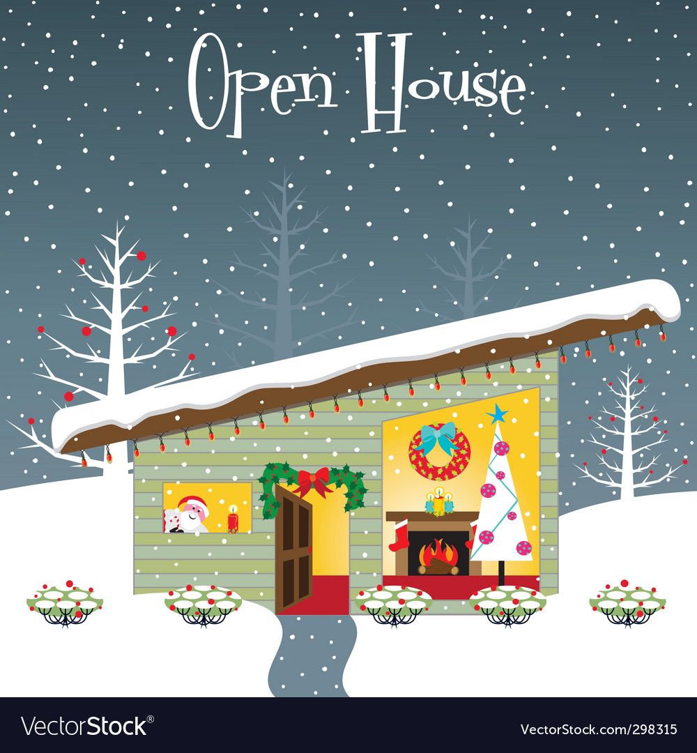 Christmas open house vector | Price: 3 Credit (USD $3)