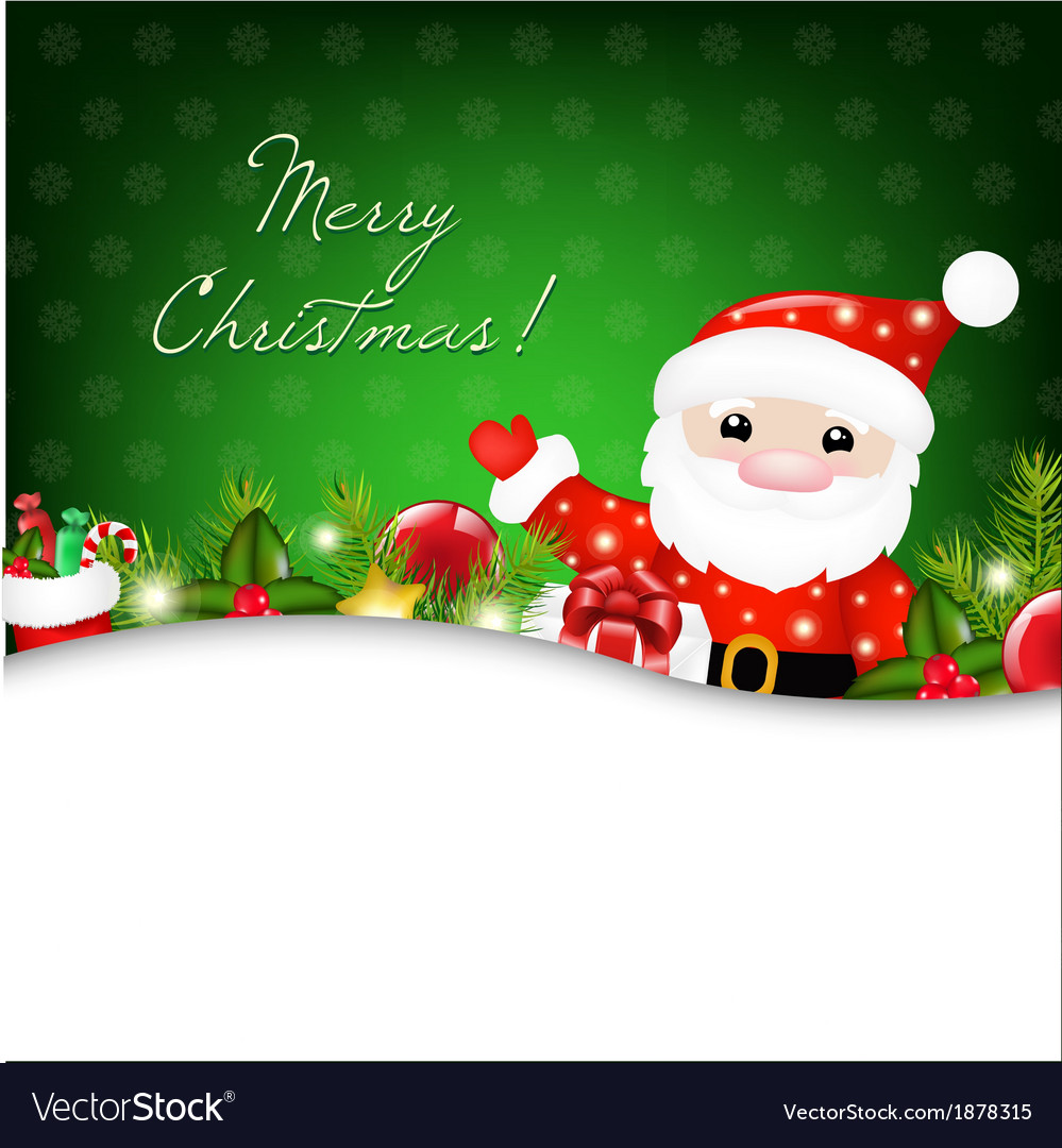 Christmas with santa claus vector | Price: 1 Credit (USD $1)
