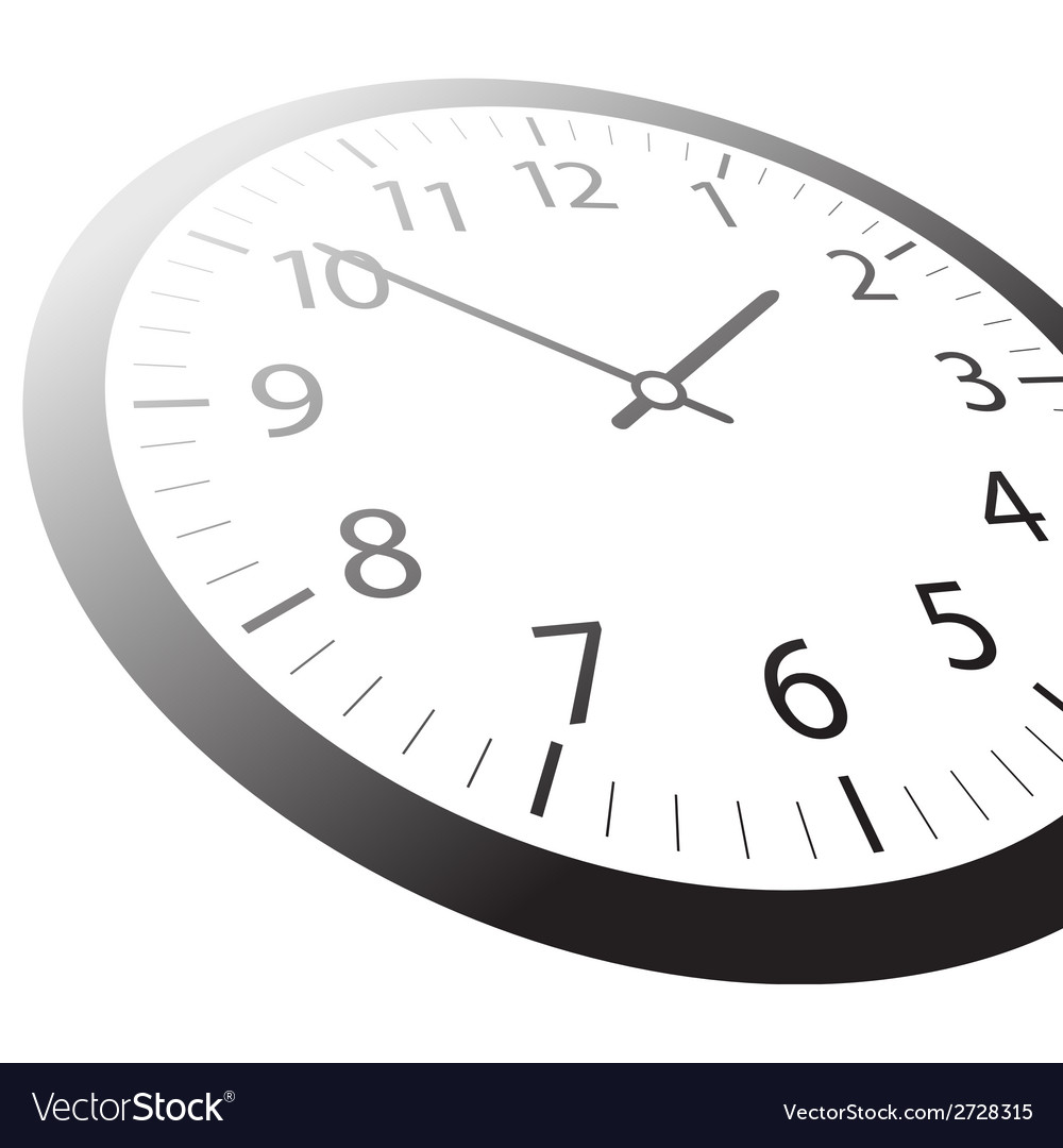 Classic time clock web vector | Price: 1 Credit (USD $1)