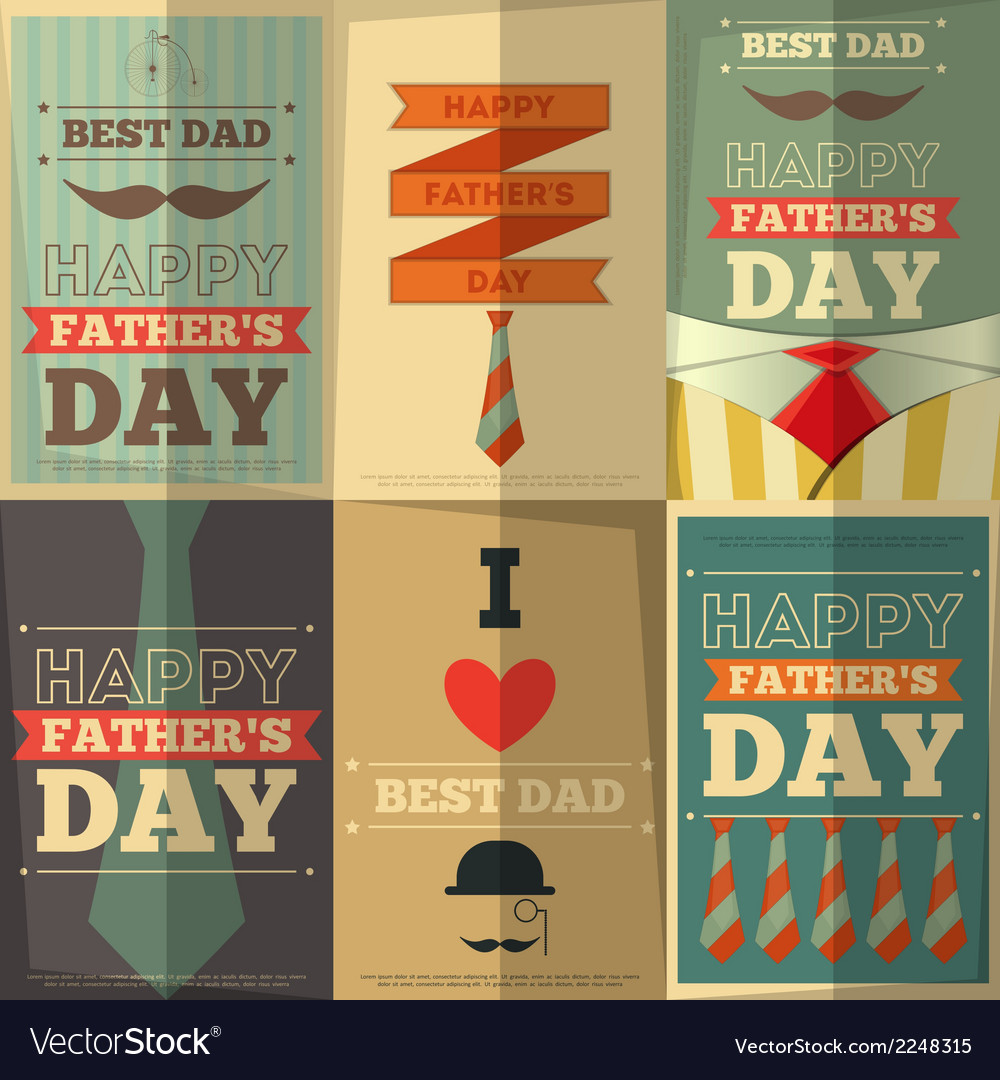 Fathers day posters vector | Price: 1 Credit (USD $1)