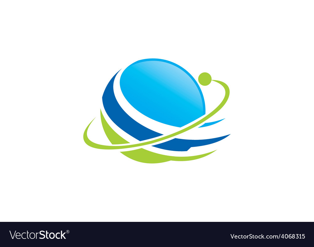 Globe planet orbit space abstract logo vector | Price: 1 Credit (USD $1)