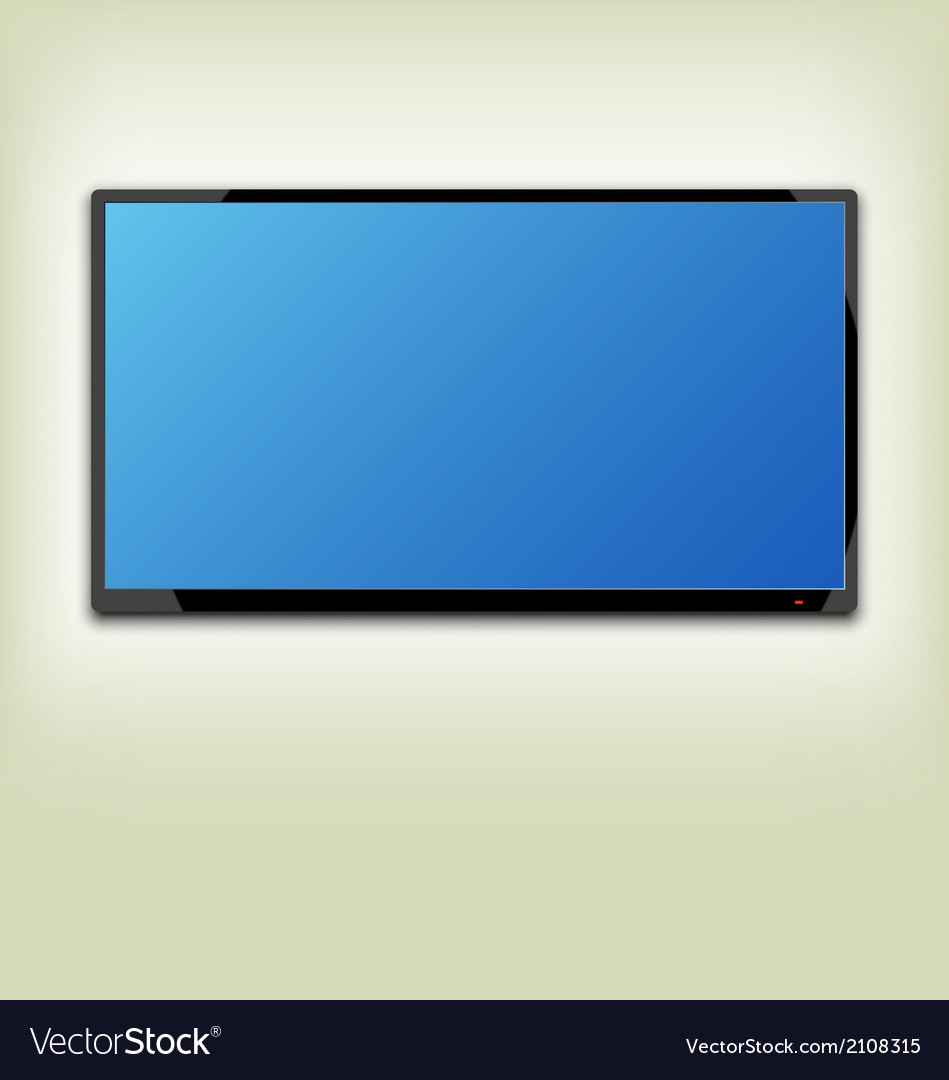 Lcd or led tv screen hanging on the wall vector | Price: 1 Credit (USD $1)