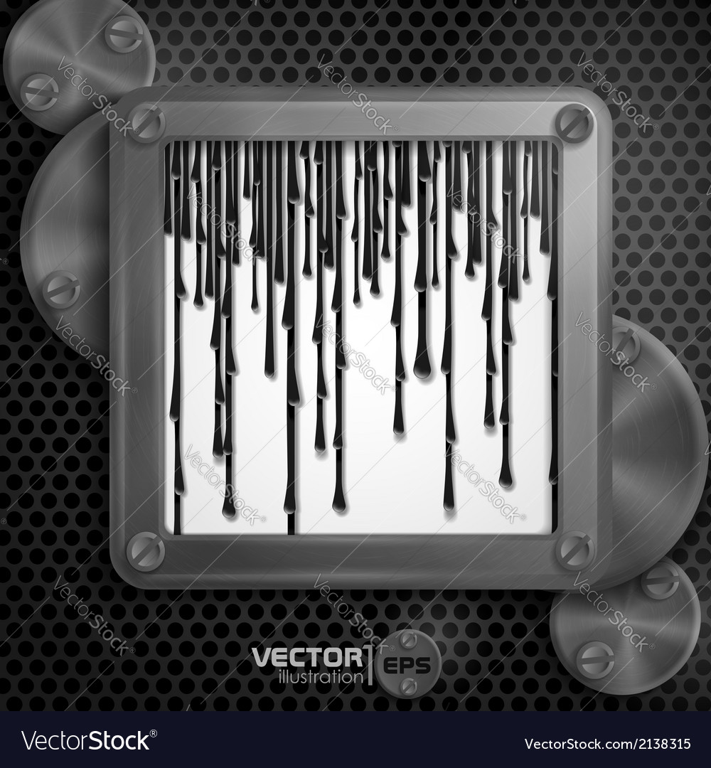 Metallic frame with screws on vector | Price: 1 Credit (USD $1)