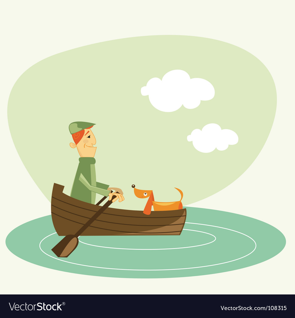 Rowboat vector | Price: 1 Credit (USD $1)