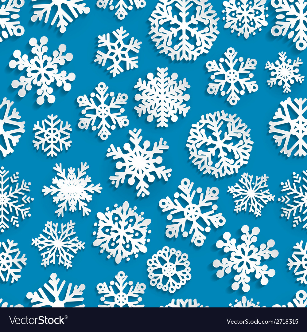 Seamless pattern of paper snowflakes vector   Price: 1 Credit (USD $1)