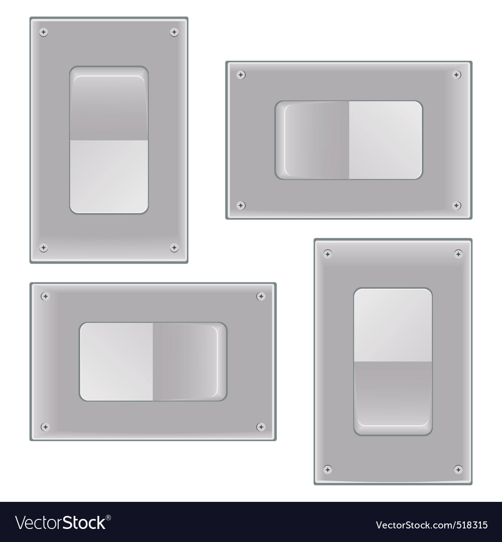 Silver onoff switch vector | Price: 1 Credit (USD $1)