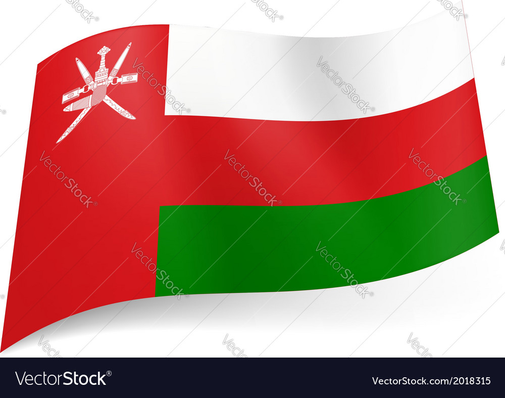 State flag of oman vector | Price: 1 Credit (USD $1)