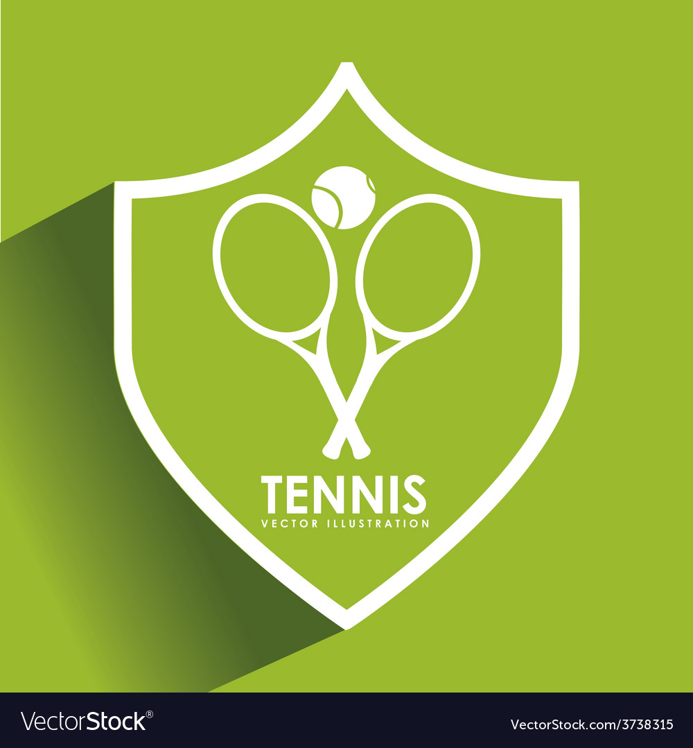 Tennis game design vector | Price: 1 Credit (USD $1)