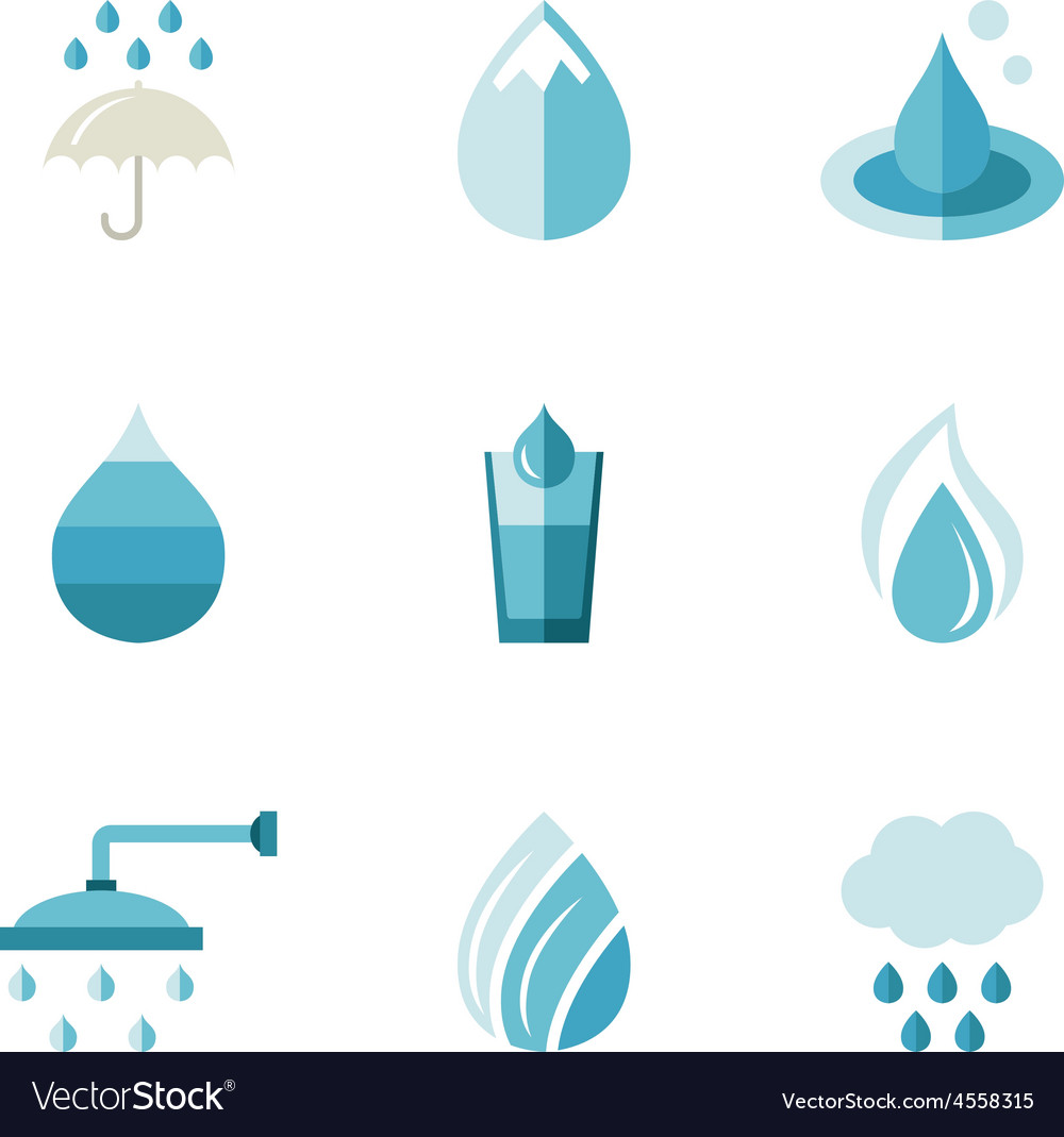 Water ecology freshness characters in a flat vector | Price: 1 Credit (USD $1)