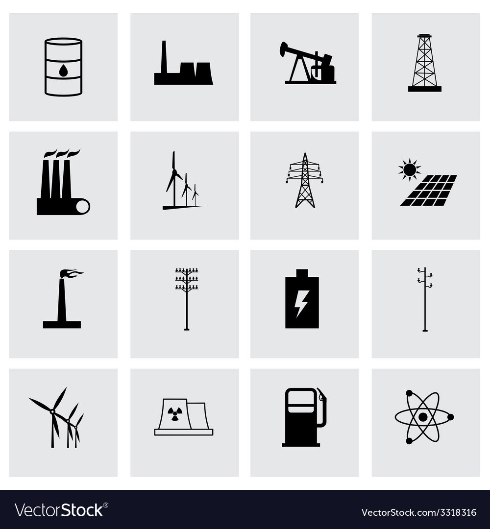 Energetics icon set vector | Price: 1 Credit (USD $1)