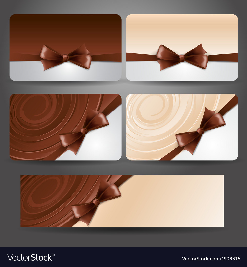 Gift card with chocolate bow and whirlpool vector | Price: 1 Credit (USD $1)