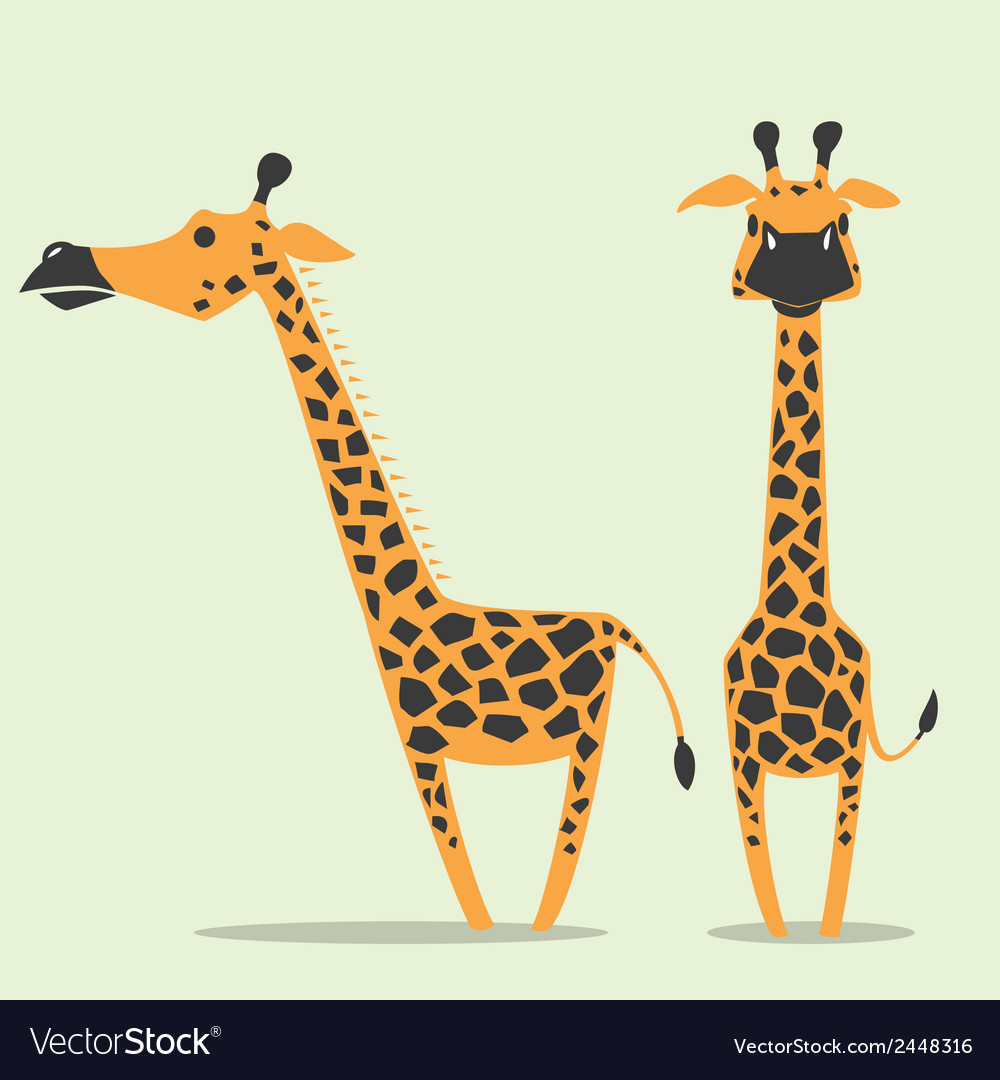 Giraffe cartoon vector | Price: 1 Credit (USD $1)