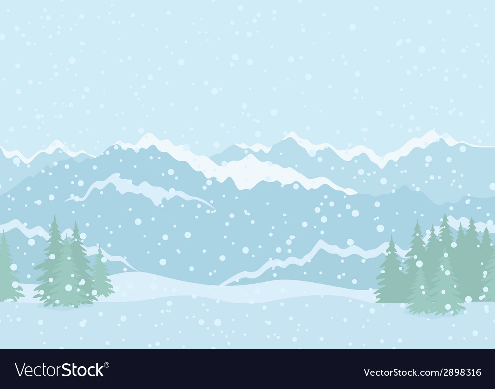 Landscape mountains seamless vector | Price: 1 Credit (USD $1)