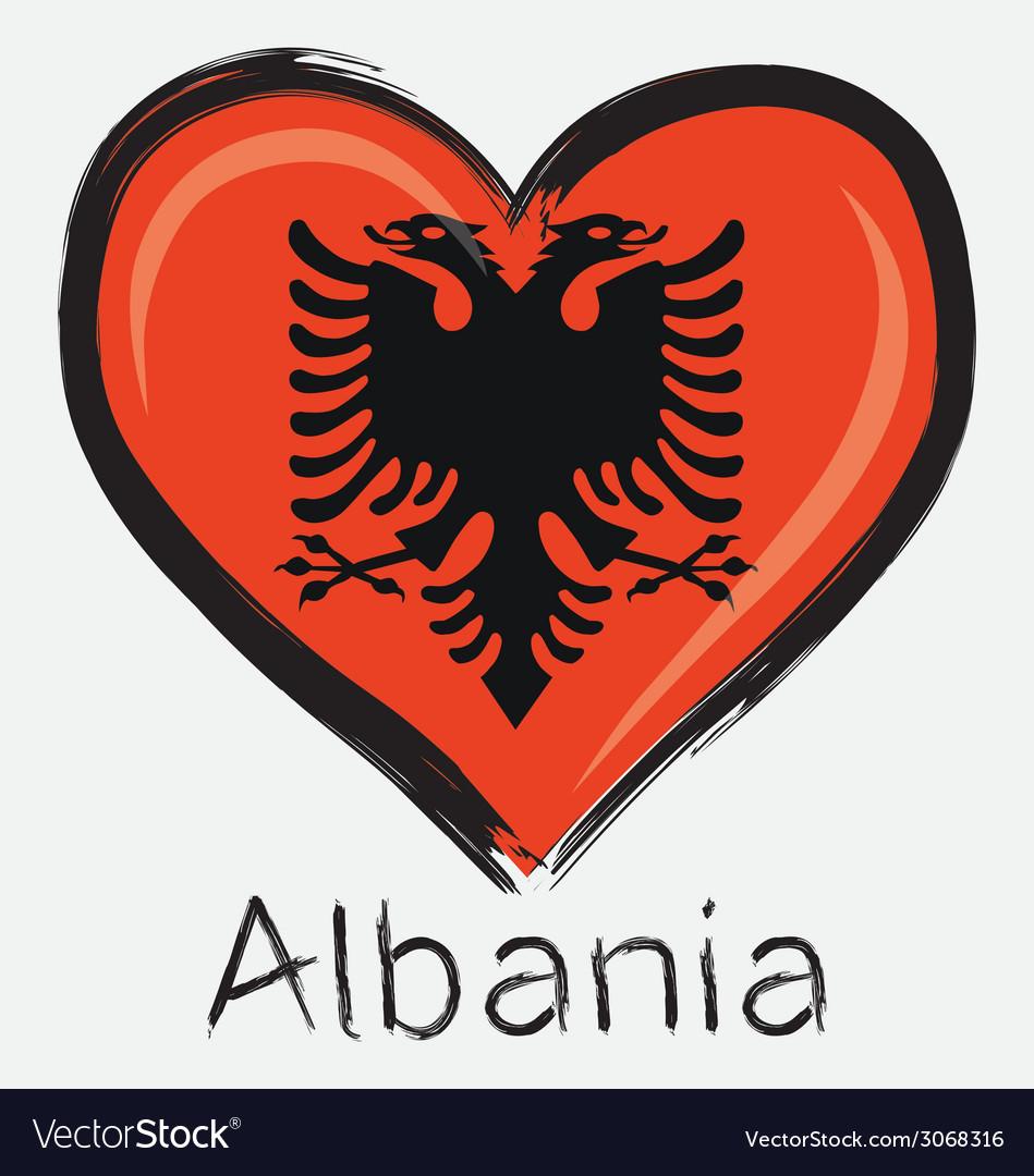Love albania flag vector | Price: 1 Credit (USD $1)