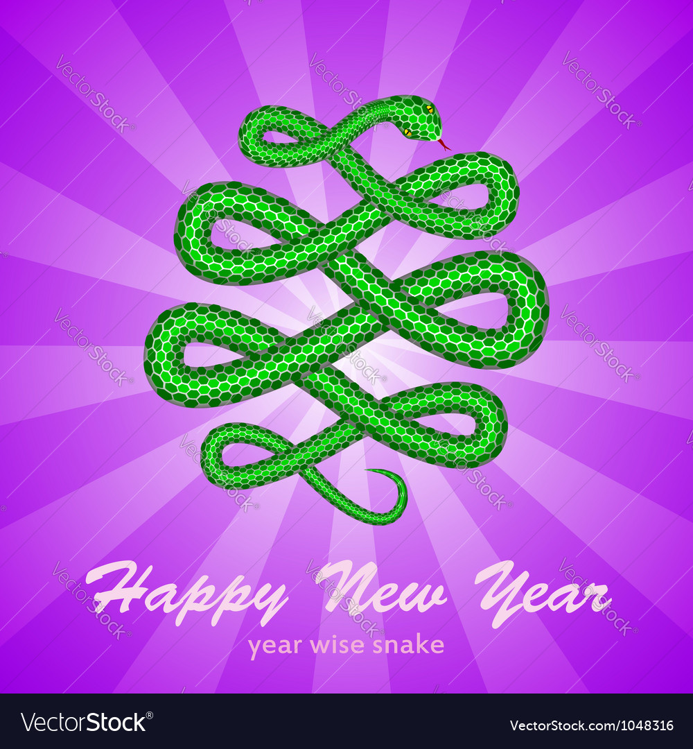 New year card with a snake symbol of 2013 year vector | Price: 1 Credit (USD $1)