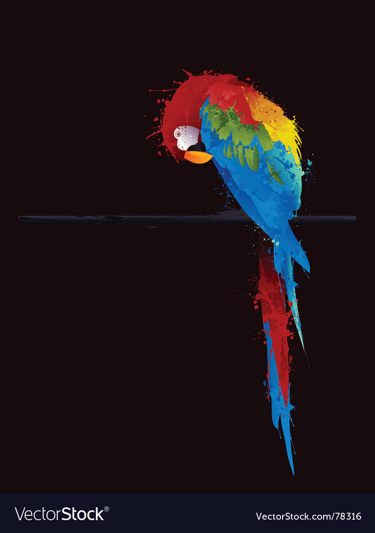 Parrot parakeet vector | Price: 1 Credit (USD $1)