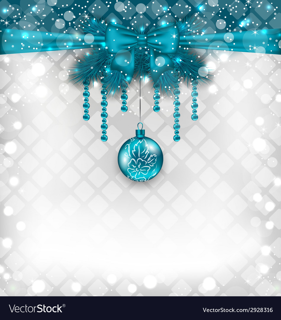 Shimmering background with christmas traditional vector | Price: 1 Credit (USD $1)