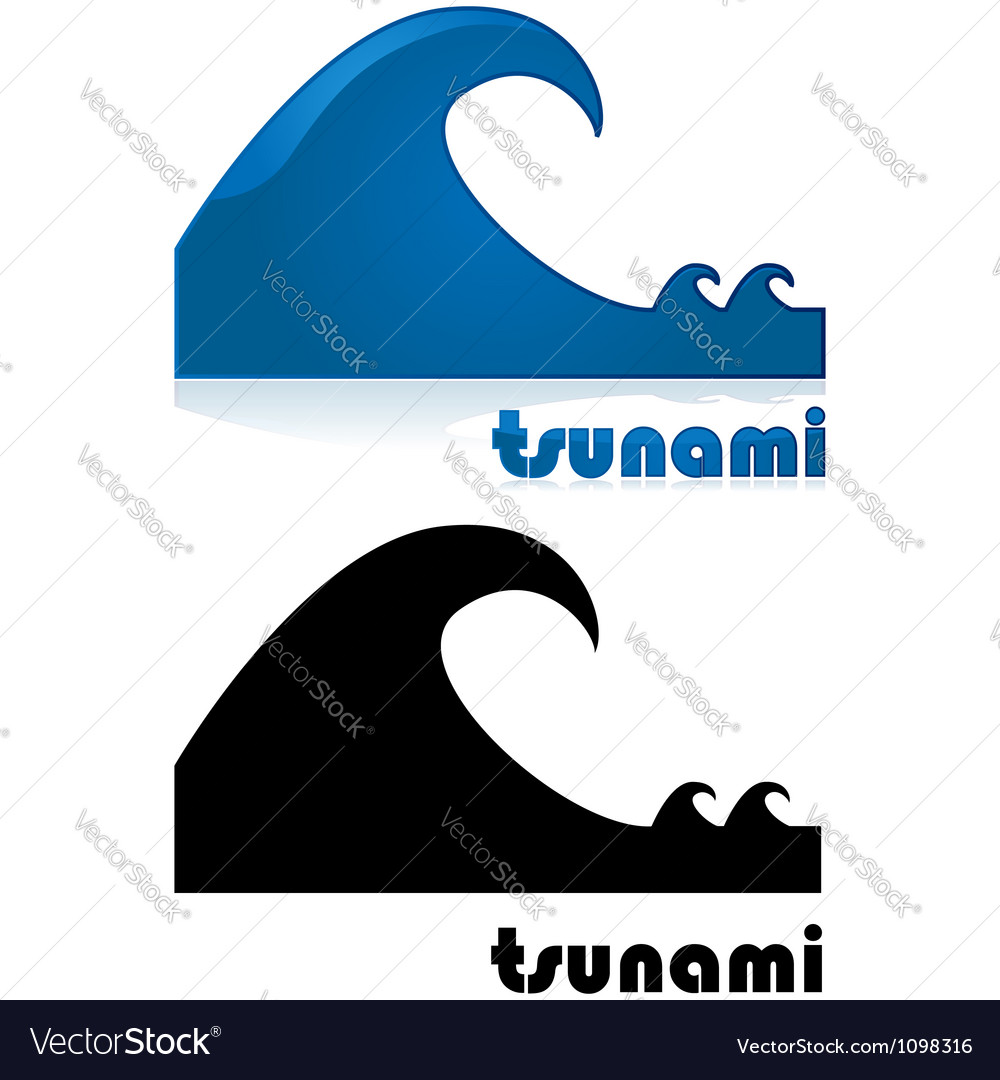 Tsunami vector | Price: 1 Credit (USD $1)