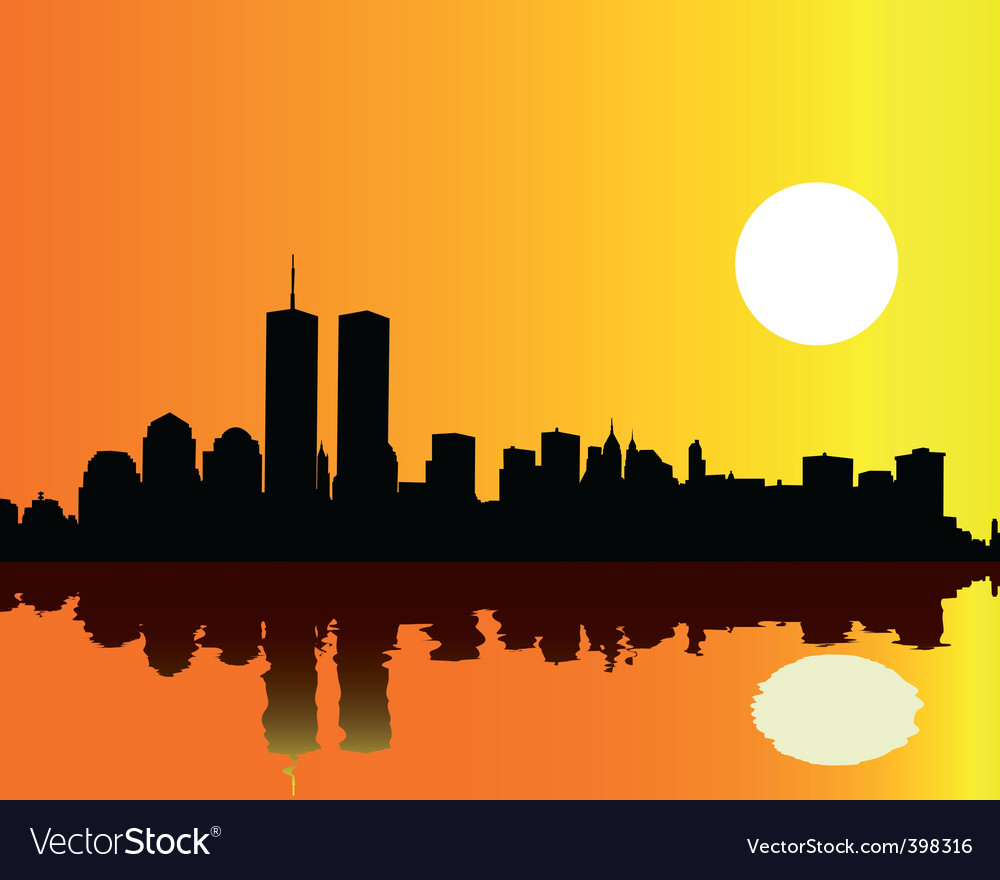 Twin towers vector | Price: 1 Credit (USD $1)