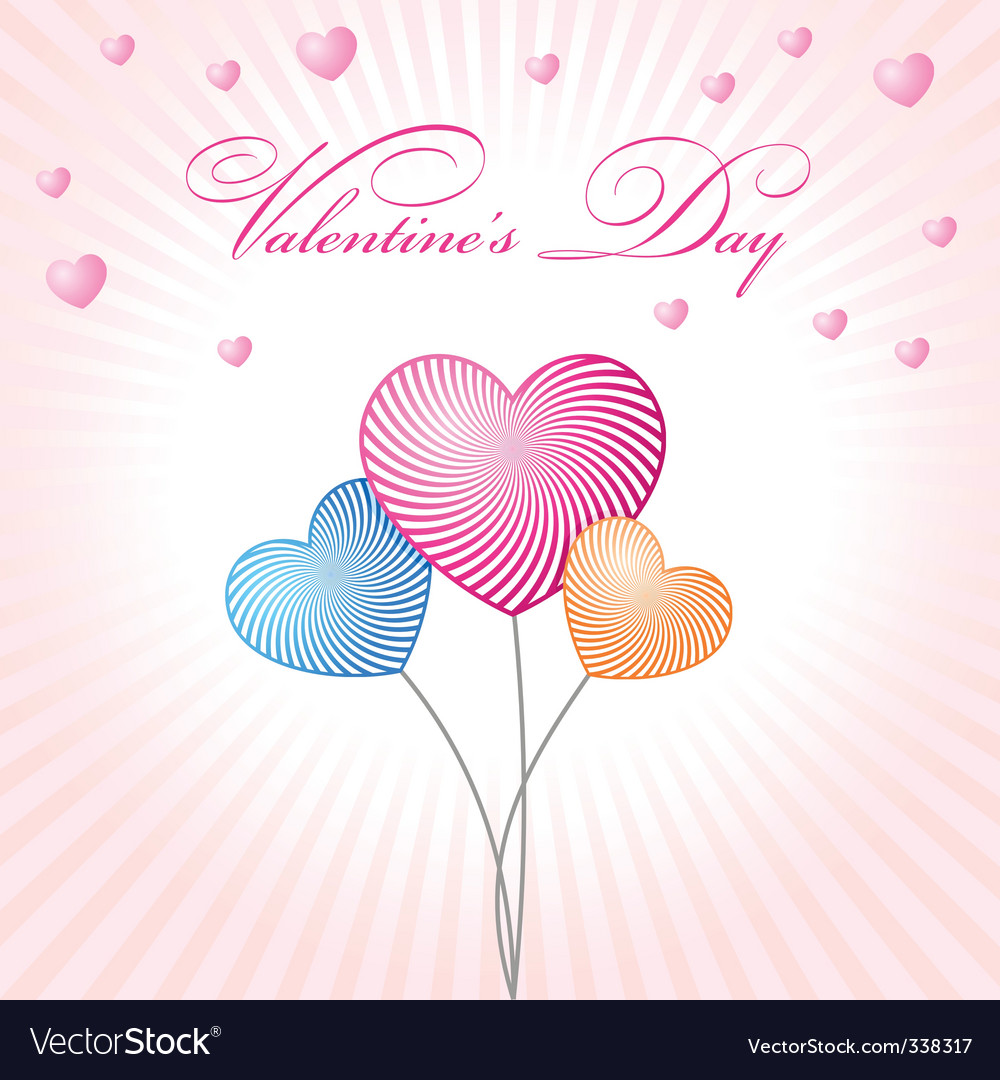 Abstract glamour heart valentine balloons vector | Price: 1 Credit (USD $1)